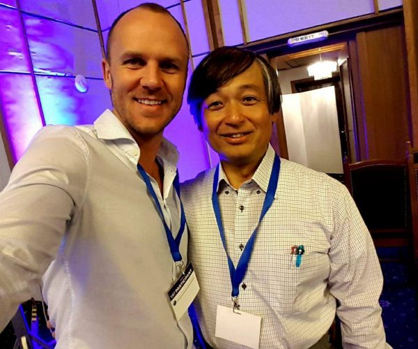 With Dr. Yasuyuki Nemoto from Massu Emoto laboratory.  The scientists that discovered that human consciousness can affect the structure of water.