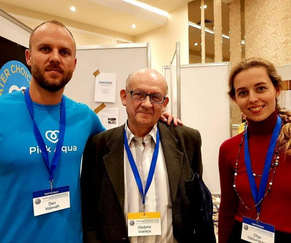 With Professor Vladimir Voeikov chairman of Bio organic Chemistry of Lomonosov Moscow State University and Dr. Olga Yablonskaya