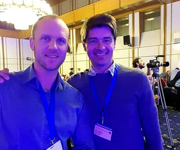 With Dr.Nikolaj Sorgenfrei from Denmark. Scientists in water field.